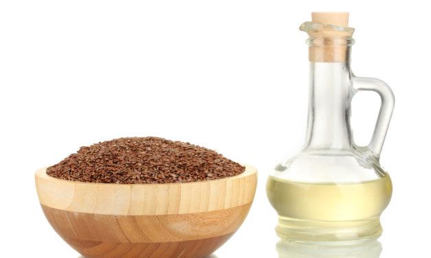 Leinsamenöl aus der Flachspflanze